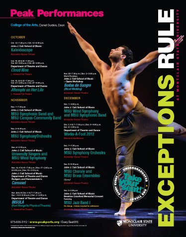 MONTCLAIR STATE UNIVERSITY College of the Arts- Season Poster